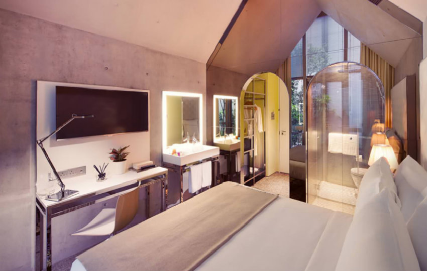 Philippe starck bedrooms for hotel m social singapore for M design hotel