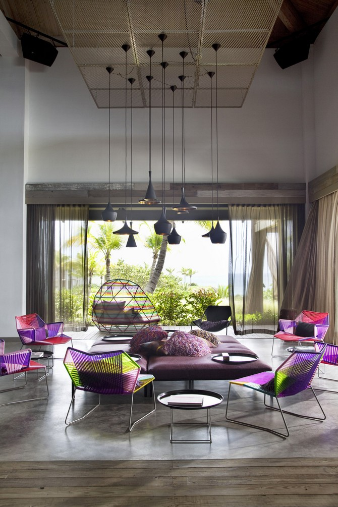Bedroom Design at W Vieques Island by Patricia Urquiola