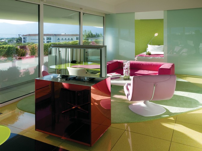Bedroom Ideas: Karim Rashid's Colorful Bedrooms at Semiramis Hotel