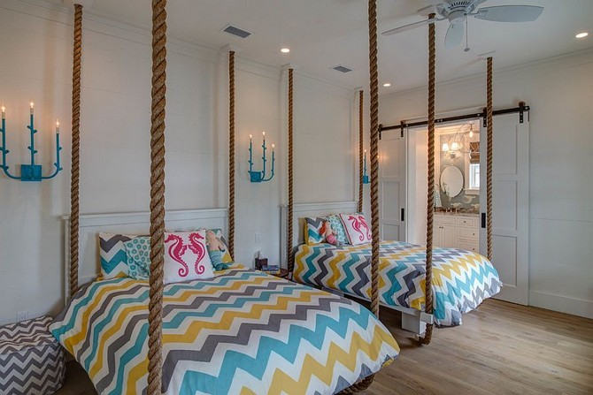 Patterned Contemporary Kids Rooms contemporary kids rooms Patterned Contemporary Kids Rooms Get in on the latest trends with cool chevron bedding
