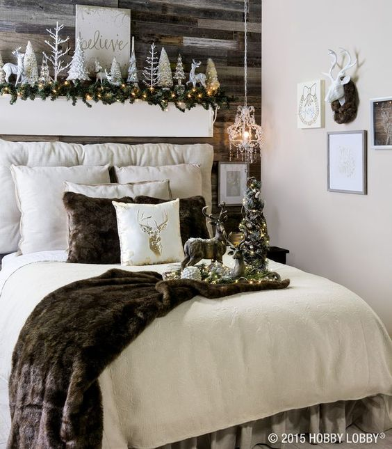 bedroom decorating ideas bedroom decorating ideas Enter the Christmas Spirit with Creative Bedroom Decorating Ideas 286a489cdb21ea53d03b2f6460317c99
