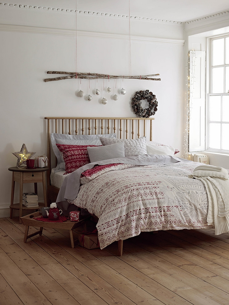 scandinavian-minimalism bedroom decorating ideas Enter the Christmas Spirit with Creative Bedroom Decorating Ideas Scandinavian minimalism