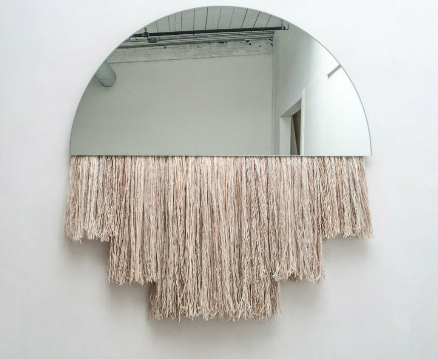 Blanc-Half-Moon-Mirror fringe trends Decorate Your Bedroom with Exceptional Fringe Trends Blanc Half Moon Mirror