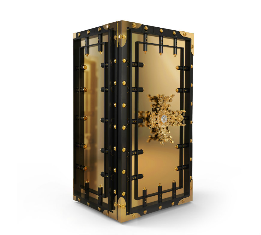 knox-luxury-safe-zoom luxury safes Luxury Safes Intensify Your Bedroom Decor with Boca do Lobo's Luxury Safes knox luxury safe zoom