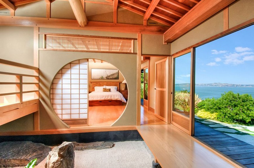 Asian-bedroom-design-utilizes-the-classic-Shoji-Screen