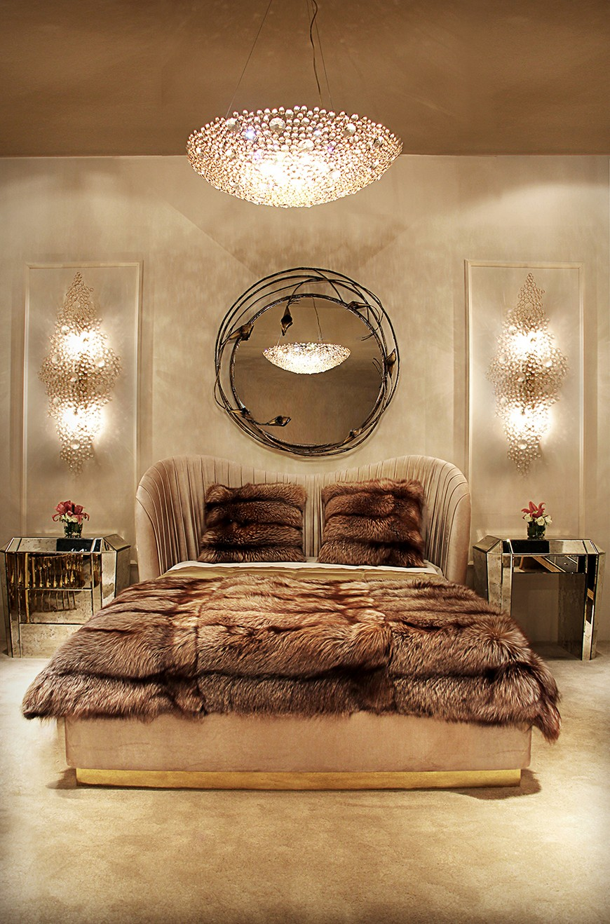 Bedroom-koket-02 suspension lamps Enchanting Suspension Lamps to Place Above Wall Mirrors Bedroom koket 02