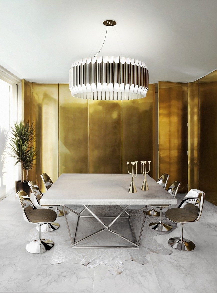 Dining-Room-Delightfull-07 suspension lamps Enchanting Suspension Lamps to Place Above Wall Mirrors Dining Room Delightfull 07
