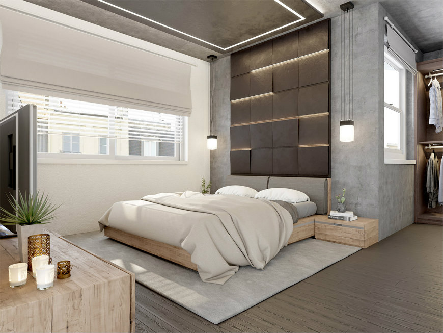 concrete-wall-panels wall designs Striking and Artistic Wall Designs to Decorate Your Bedroom concrete wall panels