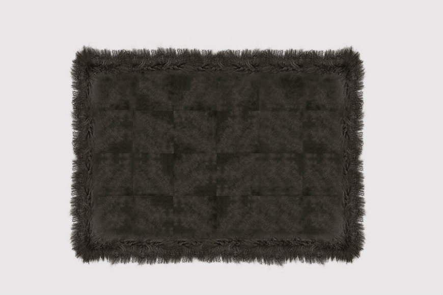 cowhide-with-mongolian-goat-expresso-rug-1-zoom-big contemporary rugs contemporary rugs 10 Contemporary Rugs to Create a Charming Ambience in Your Bedroom cowhide with mongolian goat expresso rug 1 zoom big