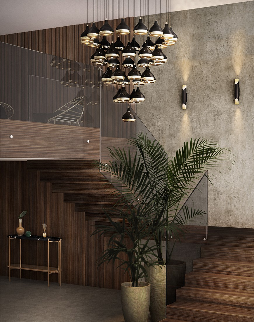entrance-delightfull-20 suspension lamps Enchanting Suspension Lamps to Place Above Wall Mirrors entrance delightfull 20