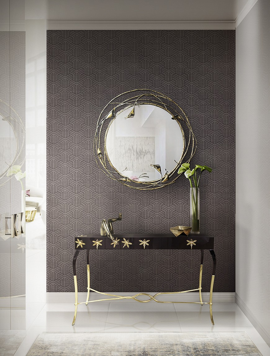 entrance-koket-06 Wall Mirrors Brilliant Wall Mirrors to Incorporate in Your Bedroom Design entrance koket 06