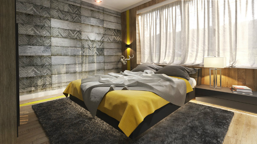 geometric-concrete-bedroom-wall-panels wall designs Striking and Artistic Wall Designs to Decorate Your Bedroom geometric concrete bedroom wall panels