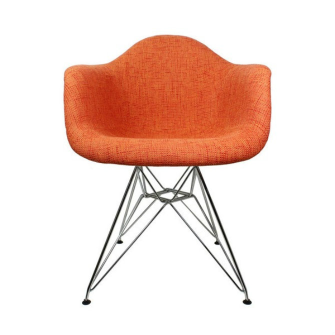 orange-chair-1 bedroom decor Bedroom Decor Bright Up Your Bedroom Decor with Fabulous Orange Chairs orange chair 1