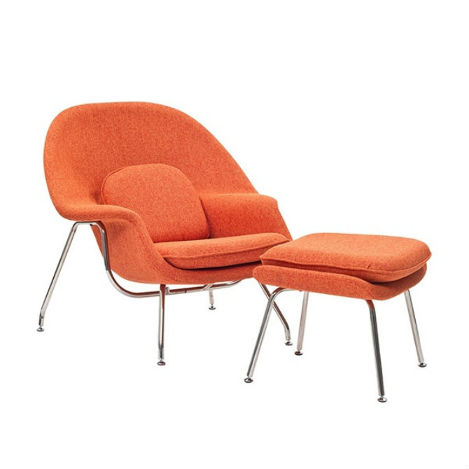 orange-chair-2 bedroom decor Bedroom Decor Bright Up Your Bedroom Decor with Fabulous Orange Chairs orange chair 2