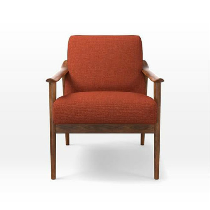 orange-chair-west-elm bedroom decor Bedroom Decor Bright Up Your Bedroom Decor with Fabulous Orange Chairs orange chair west elm