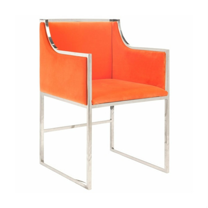 orange-chair-zinc-door Bedroom Decor Bright Up Your Bedroom Decor with Fabulous Orange Chairs orange chair zinc door