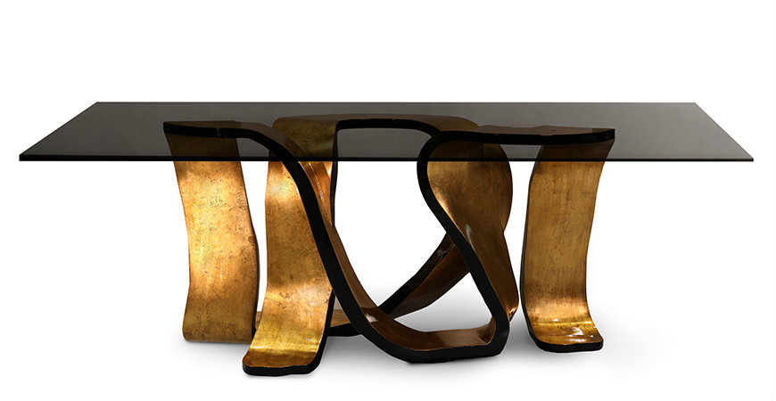 ribbon-dining-table-1 KOKET Be Mesmerised by KOKET's Most Recent Luxurious Designs ribbon dining table 1