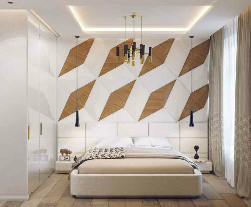 Original And Incandescent Bedroom Ideas With Accent Walls