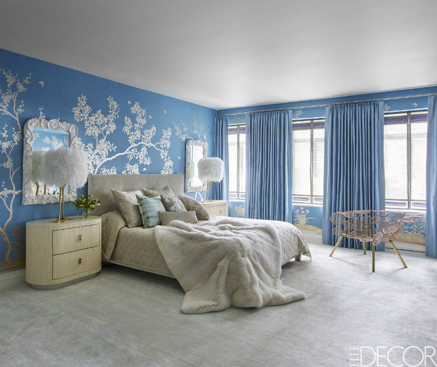 10 tremendously designed bedroom ideas in shades of blue - Blue bedroom wallpaper ideas ...