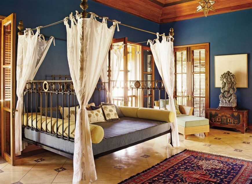 exotic-bedroom-sunil-jasani-alibag-india-200808_1000 source ad design file bedroom designs Bedroom Designs with Bohemian-Styled Four Poster Beds exotic bedroom sunil jasani alibag india 200808 1000 source ad design file