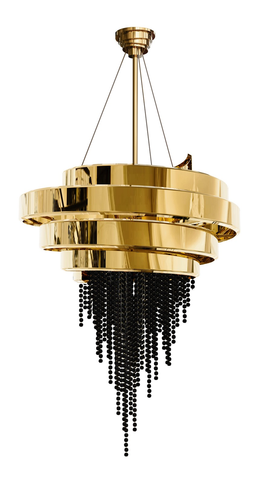 guggenheim-chandelier-01 bedroom decor Remarkable Lighting Ideas to Embellish Your Bedroom Decor guggenheim chandelier 01