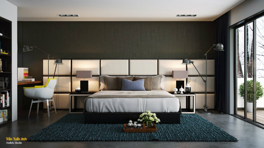 leather-headboard-ideas accent walls Original and Incandescent Bedroom Ideas with Accent Walls leather headboard ideas