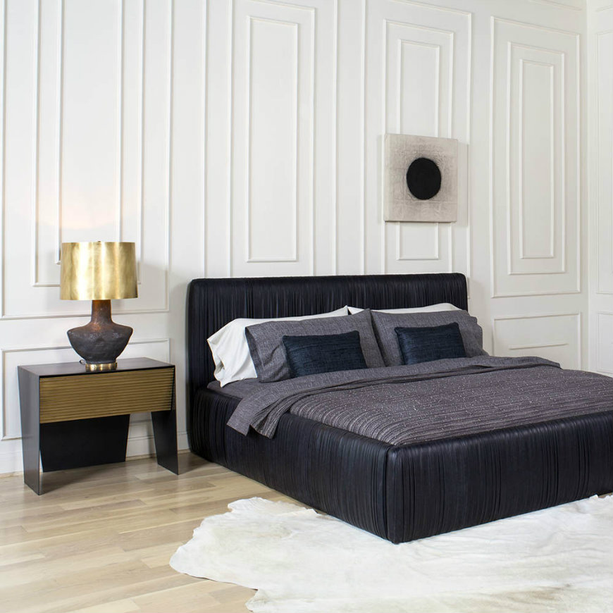 kelly wearstler Upholstered headboards Spruce Up Your Bedroom Decor with 25 Fabulous Upholstered Headboards kelly wearstler
