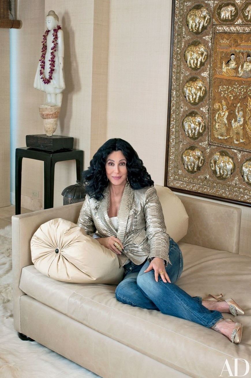 Cher Indian-Inspired Home 1 Cher An Inside Look to Cher's Fabulous California Homes Cher Indian Inspired Home 1