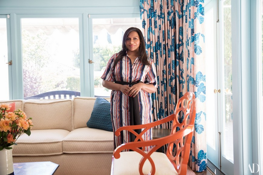 Contemplate Bedroom Ideas with Mindy Kaling's Los Angeles Home 1 mindy kaling Contemplate Bedroom Ideas with Mindy Kaling's Vibrant Los Angeles Home Contemplate Bedroom Ideas with Mindy Kalings Los Angeles Home 1