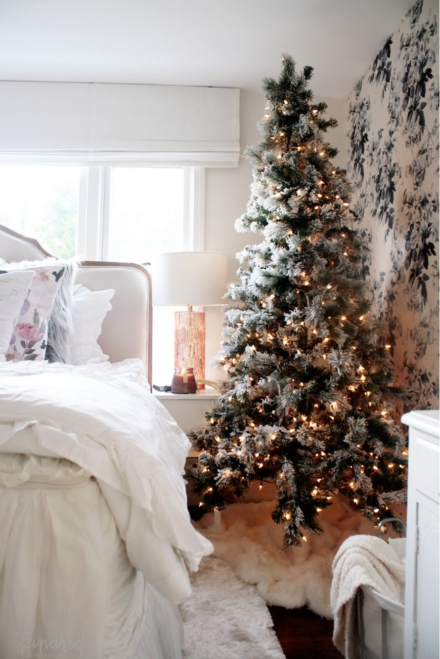 The best bedroom christmas decorations to enter in the for Winter bedroom
