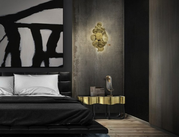 master bedroom designs Top Luxury Master Bedroom Designs Handcrafted structure made from mahogany with a high gloss black lacquer finish