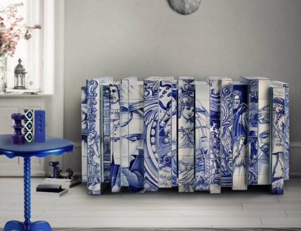 navy blue bedroom Navy Blue Bedroom Decoration Ideas heritage sideboard 600x460