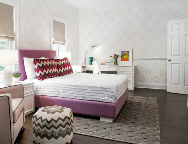contemporary kids rooms Patterned Contemporary Kids Rooms Repeating the chevron pattern in the room gives it a curated appeal 2 600x460