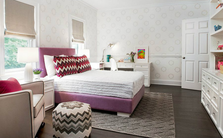contemporary kids rooms Patterned Contemporary Kids Rooms Repeating the chevron pattern in the room gives it a curated appeal 2