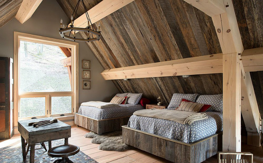 reclaimed-wood-wal reclaimed wood walls Bedroom Ideas with Reclaimed Wood Walls reclaimed wood wal