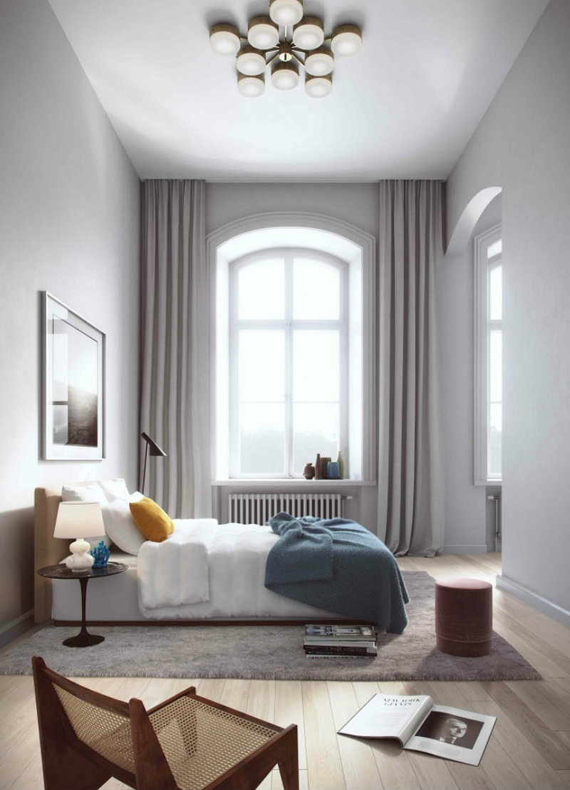 Decorating Bedrooms With High Ceilings