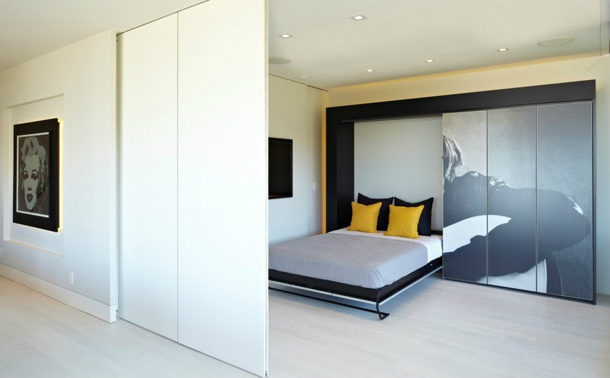 featured sliding doors A Series of Striking Bedroom Designs with Sliding Doors featured 11
