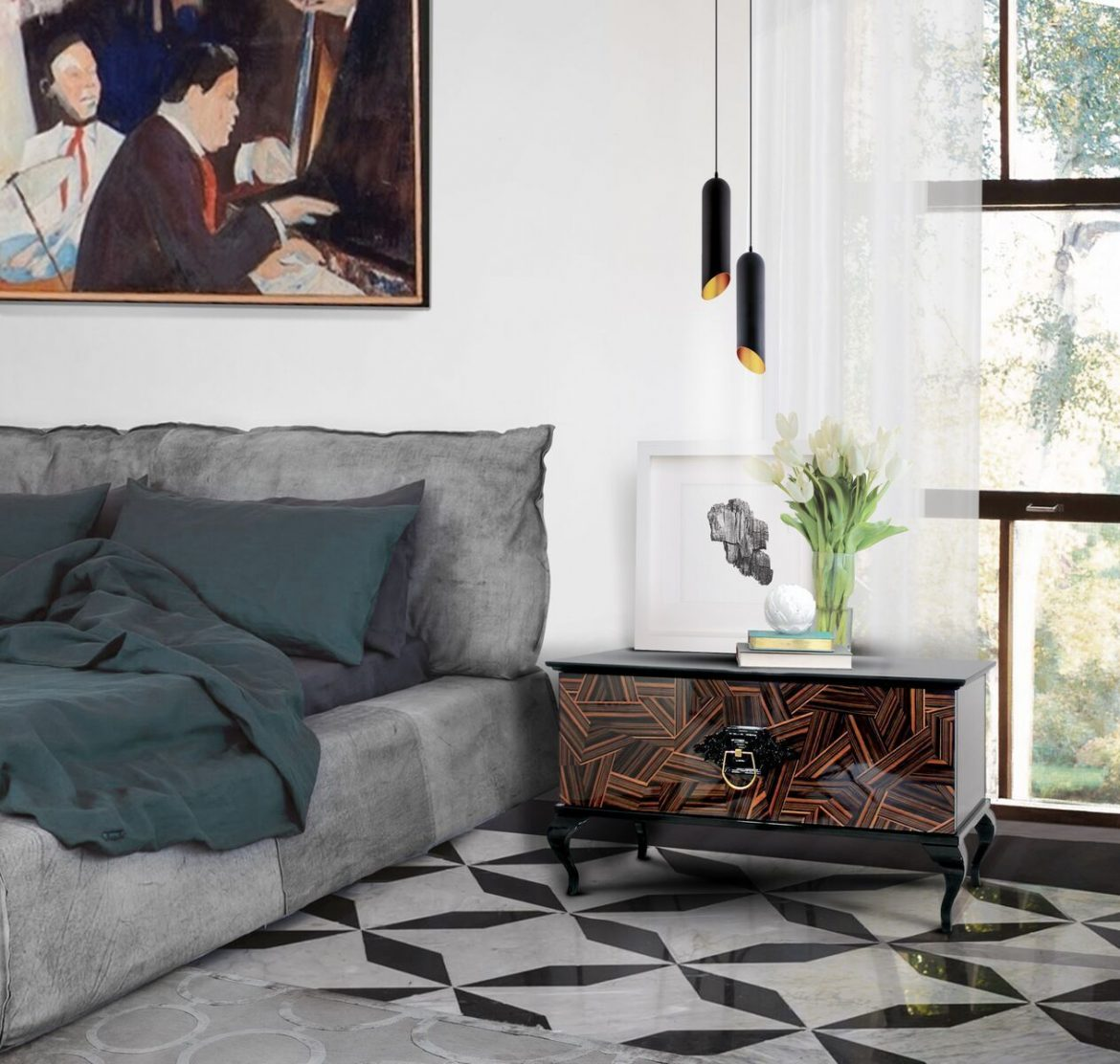 7 Bedside Tables Ideas That Make Your Bedroom Decor More Functional 6