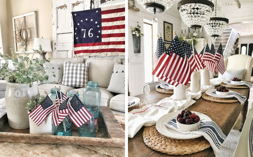 bedroom ideas Bedroom Ideas Let Out Your Patriotic Side With These 4th Of July Home Decor Ideas feat 870x540