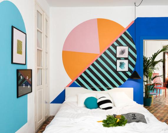 Memphis Design Bedroom by Masquespacio12 memphis design bedroom Memphis Design Bedroom By Masquespacio Memphis Design Bedroom by Masquespacio12 570x450