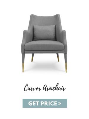 bedroom corners 5 Inspiring Bedroom Corners & How To Get The Look carver armchair